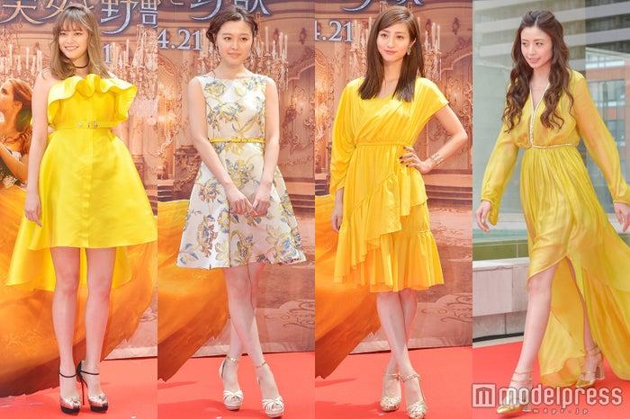 (左から)岸本セシル、久住小春、堀田茜、片瀬那奈 (C)モデルプレス