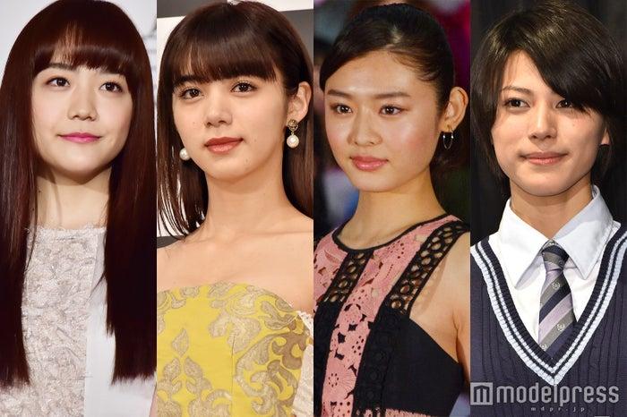 左から:松井愛莉、池田エライザ、古畑星夏、春川芽生(C)モデルプレス