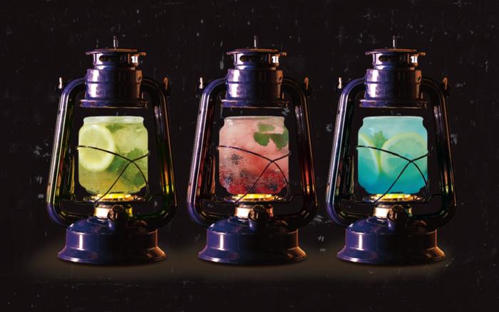 (左から)ジンジャーモヒート、ベリー&ベリー、ブルーレモンスカッシュ550円~/画像提供:公益社団法人びわこビジターズビューロー