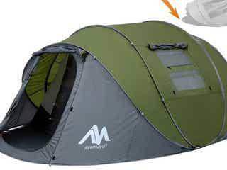 放り投げるだけ、30秒で完成するテント!家族で入れる広々サイズなのに、片付けも簡単で一人で持ち運べる