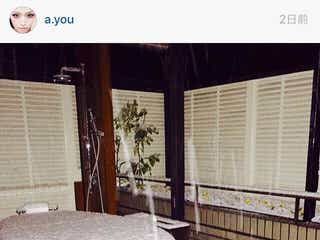 浜崎あゆみ、自宅の露天風呂を公開。「うちの屋上がすごいことに」