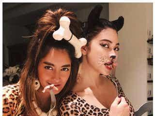 森泉&星姉妹、肉食女豹に SEXYペアコスプレで誘惑