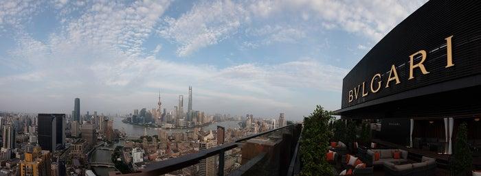 外灘や上海のアイコニックな都市の景観360°の眺望が特色であるラ・テラッツァ/画像提供:ブルガリ ジャパン