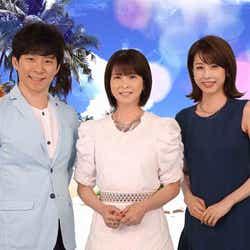 (左から)渡部建、森高千里、加藤綾子(C)フジテレビ