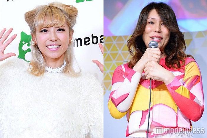 若槻千夏(左)とKABA.ちゃん(右)/KABA.ちゃん、写真は性別適合手術前の2015年時(C)モデルプレス