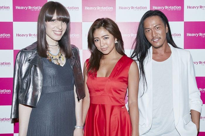 (左から)IVAN、今井華、JunJun(提供写真)