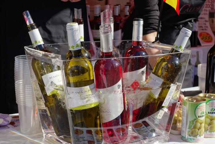 ワインやビールも揃う/提供画像:フィエスタ・デ・エスパーニャ実行委員会