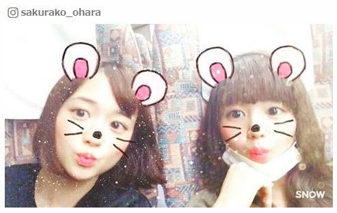 (左から)大原櫻子、藤原さくら/大原櫻子Instagramより