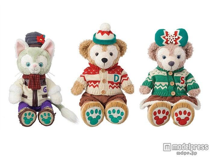 クリスマス仕様のダッフィーたち(C)Disney