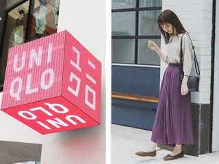 ユニクロのプリーツスカートでトレンドなのに女っぽ「フェミニンコーデ」