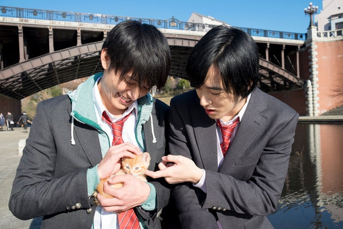 (左から)西川俊介、上遠野太洸/ドラマ「覚悟はいいかそこの女子。」場面カット (C)椎葉ナナ/集英社 (C)2018ドラマ「覚悟はいいかそこの女子。」製作委員会