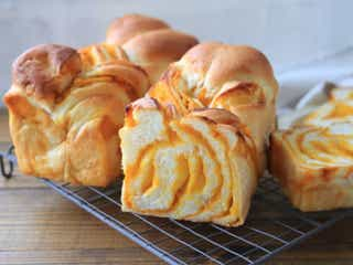 100均のパウンド型でできる!甘くておいしい♡かぼちゃのマーブル食パン