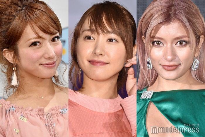 4月に一番読まれたニュースは?(左から)辻希美、新垣結衣、ローラ(C)モデルプレス