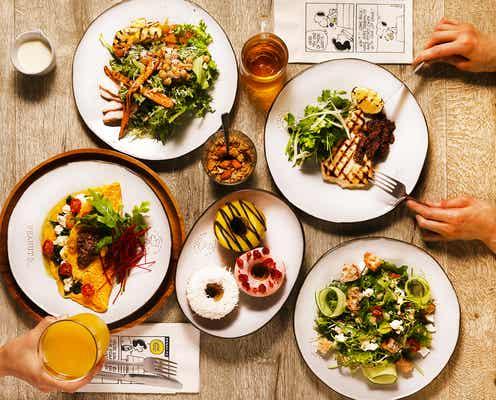 原宿駅前に「ピーナッツ カフェ サニーサイドキッチン」自家製ツナサンドやドーナツですこやかな食の時間を