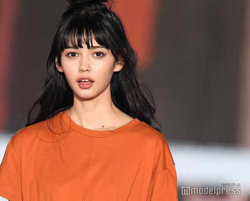 話題のモデル愛花(えりか)が堂々ランウェイ 圧倒的美貌際立つ<関コレ2019S/S>