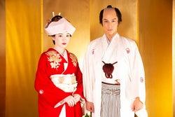 """永野芽郁、美しい花嫁姿披露 中川大志と「二度目の許婚」で""""婚礼2ショット"""""""