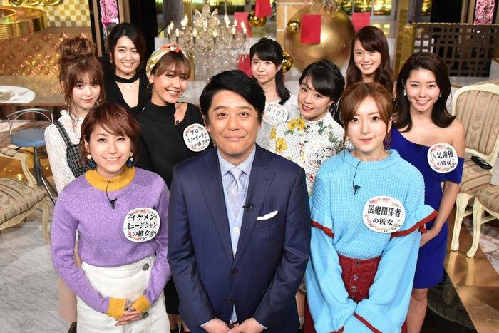 (前列左から)IMALU、坂上忍、須藤凜々花(写真提供:日本テレビ)