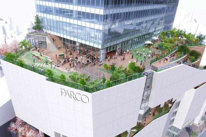 渋谷パルコの立体街路(C)2019,Takenaka Corporation