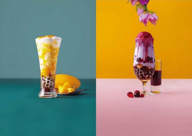 マンゴーヨーグルトミルク560円、カシスラズベリーミルク620円/画像提供:オペレーションファクトリー