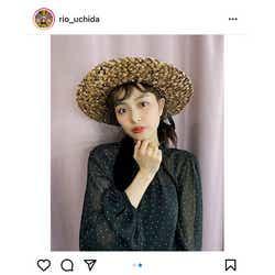 モデルプレス - 内田理央、「気分はルフィ」麦わら帽子を被ったコーデを紹介!