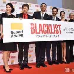 (左から)甲斐田裕子、山本耕史、ハリー・レニックス、アミール・アリソンミス、中沢沙理、大塚芳忠(C)モデルプレス
