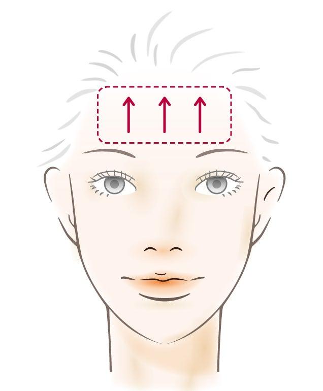 額の横ラインケア