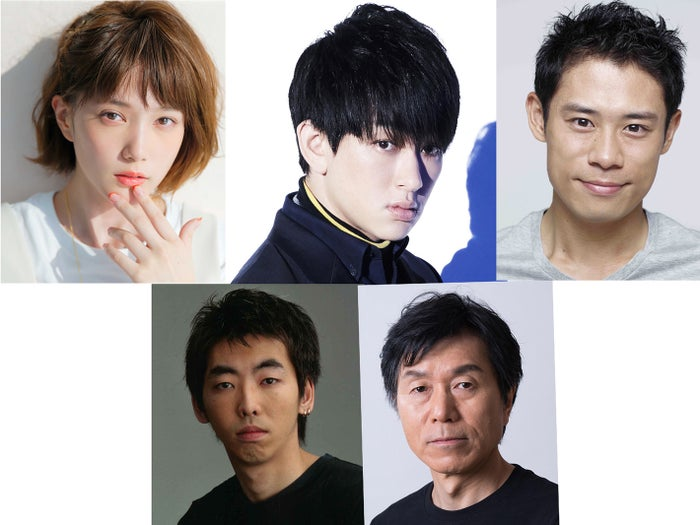 (左上から時計回り)本田翼、横山裕、伊藤淳史、平田満、柄本時生(提供写真)