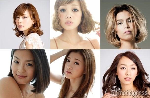 モテパンをデザインした人気モデル(左上から:今井りか、木下ココ、紗羅マリー 左下から:福田明子、平山美春、梨衣名)