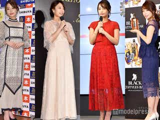 """宇垣美里、会見ファッションが女子必見のモテコーデ """"肌見せバランス""""が絶妙"""