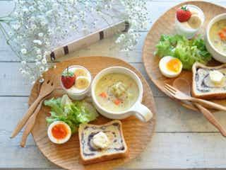 体も心もぽかぽか♡あったかスープつきの簡単ワンプレート朝ごはん