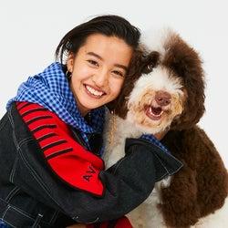 Koki,(コウキ)、愛犬と2ショット イメージ一新ストリート誌初登場