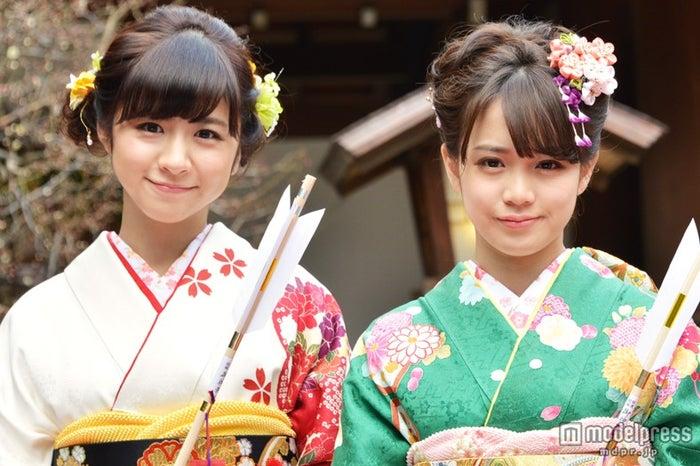 現在の恋愛事情を明かした(左から)PASSPO☆槙田紗子・奥仲麻琴