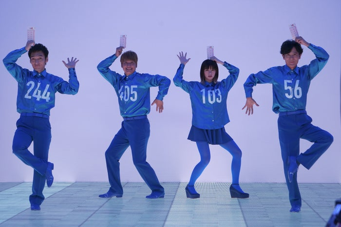 (左から)草なぎ剛、香取慎吾、池田エライザ、稲垣吾郎(提供写真)