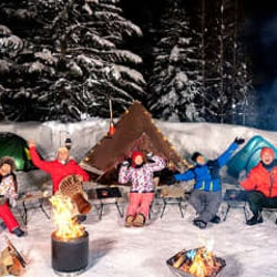 バイきんぐ・西村が稲村亜美、ティモンディ、鷲見玲奈と雪中キャンプ!「念願かなって最高の気分」