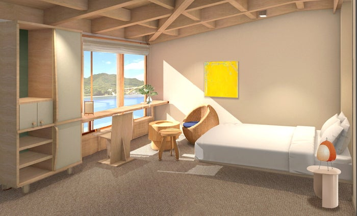 プライベートルームの完成予想図/画像提供:しおまち企画