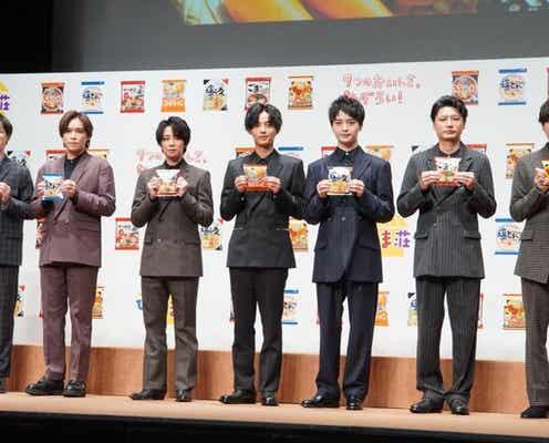 Kis-My-Ft2、「サッポロ一番」新CMにて全員集合! 北山宏光『美味しそうに食べますね、俺たち(笑)』
