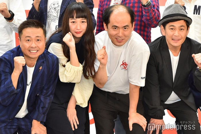 河本準一、小川暖奈、斎藤司、遠藤章造(C)モデルプレス