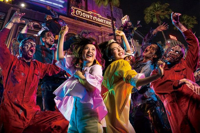 今年のハロウィーンに新登場した参加型ライブ・ショー『ゾンビ・デ・ダンス』/画像提供:ユー・エス・ジェイ