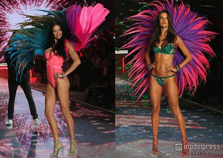「Victoria's Secret Fashion Show 2015」に登場した左からアドリアナ・リマとアレッサンドラ・アンブロジオ/photo:GettyImages【モデルプレス】