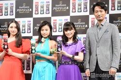 (左から)香椎由宇、小島瑠璃子、優希美青、前川泰之 (C)モデルプレス