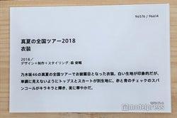 「真夏の全国ツアー2018」衣装説明/「乃木坂46 Artworks だいたいぜんぶ展」(C)モデルプレス