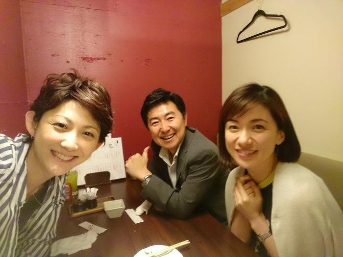 笠井アナと梅津アナと夜ご飯(提供写真)