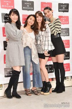 (左から)松川菜々花、遠山茜子、みうらうみ、黒木麗奈(C)モデルプレス