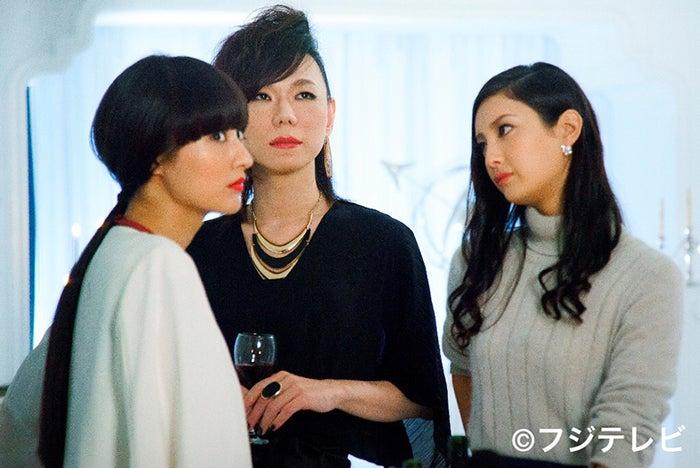 「ファーストクラス」川島3姉妹(左から)シシド・カフカ、ミッツ・マングローブ、菜々緒(C)フジテレビ【モデルプレス】