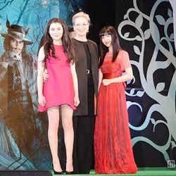 (左から)リラ・クロフォード、メリル・ストリープ、神田沙也加