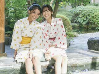 鷲見玲奈&岡副麻希、スラリ美脚が眩しい 浴衣姿で魅了