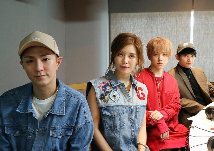 AAAの(左から)浦田直也、宇野実彩子、末吉秀太、日高光啓(提供写真)