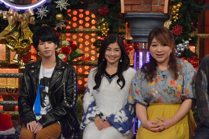 (左から)Hiro、土屋炎伽さん、りんごちゃん/5日放送「ダウンタウンDX」より(C)読売テレビ
