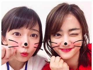 吉岡里帆&谷まりあ、キュートな密着ショットに「可愛すぎる」「天使が2人」と絶賛の声