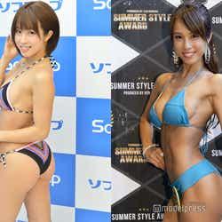 犬童美乃梨/左:トレーニング前、右:「サマスタ」出場時(C)モデルプレス